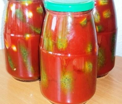 Соления огурцов в томатном соусе