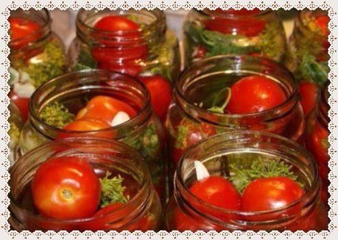 Pomidory marinovannye na zimu v 3-litrovyh bankah