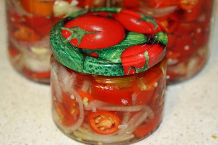 рецепт маринованного горького перца на зиму
