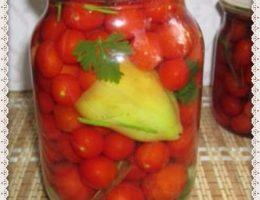 Pomidory cherri marinovannye na zimu ochen' vkusnye