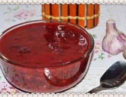 Tkemali iz krasnoj alychi gruzinskij recept